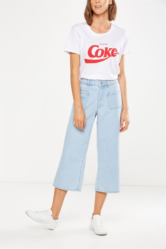 Mid Rise Wide Leg Crop Jean, CARPENTER POCKET BLEACH BLUE