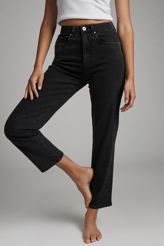 Straight Stretch Jean, MIDNIGHT BLACK
