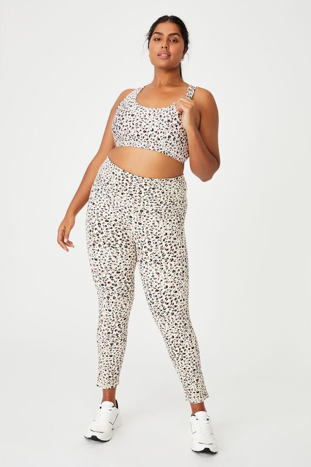 Curve Strappy Sports Crop, BLOOMING LEOPARD