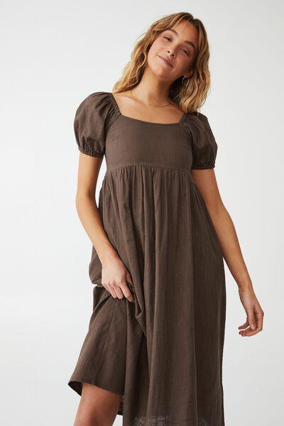 Woven Petite Mariah Midi Dress, ACORN