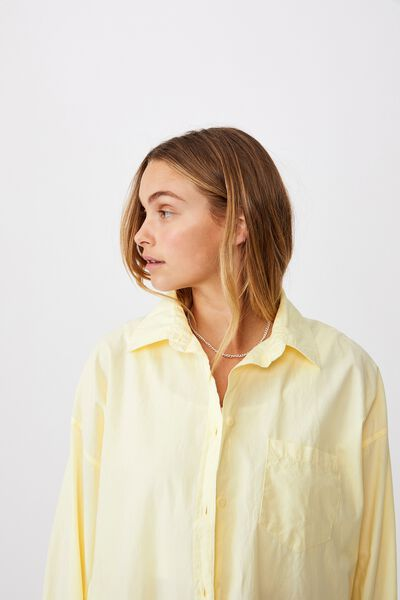 Dad Shirt, WASHED LEMON