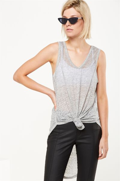 Deidra Sleeveless Tunic, GREY MARLE