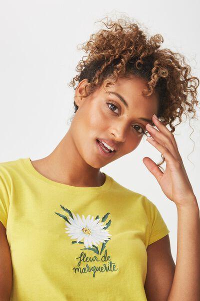 Tbar Rachael Graphic Tee Shirt, MARGUERITE/ANTIQUE MOSS
