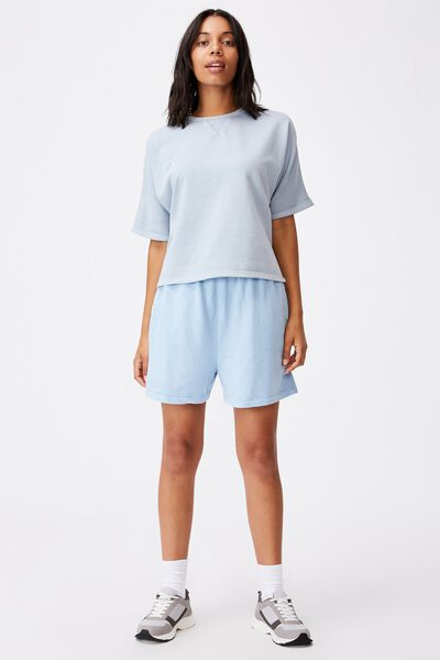 Clubhouse Short Sleeve Tee, SILVER BLUE GARMENT PIGMENT DYE