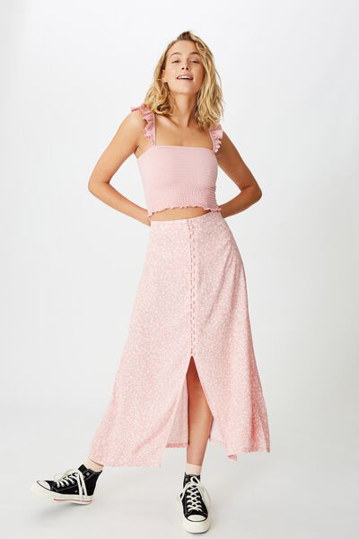 Summer Button Midi Skirt, FRANKIE DAISY ZEPHYR