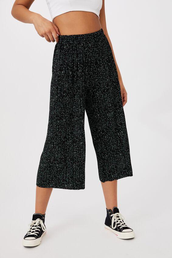 Poppy Pleated Pant, NANCY CONFETTI BLACK