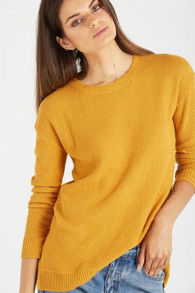 Archy 3 Pullover, SAFFRON