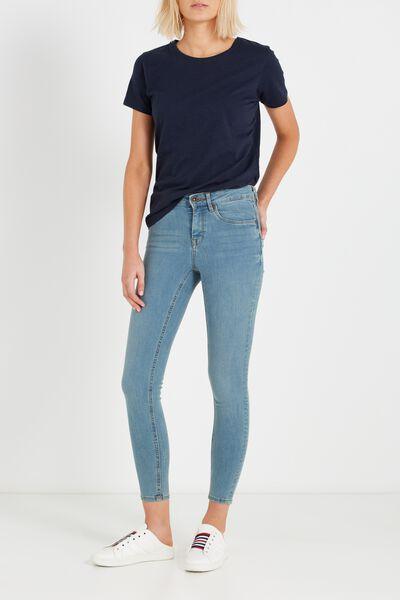 Mid Rise Shape Embracer Skinny Jean, LIGHT WASH