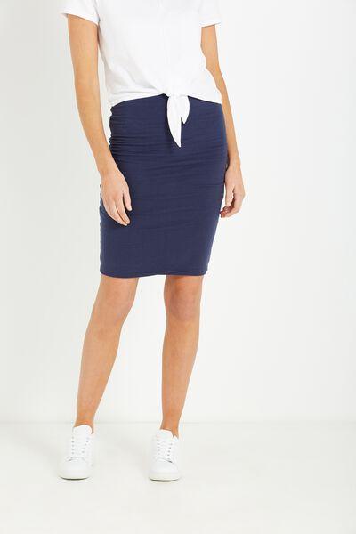 Midi Tube Skirt, MIDNIGHT OCEAN
