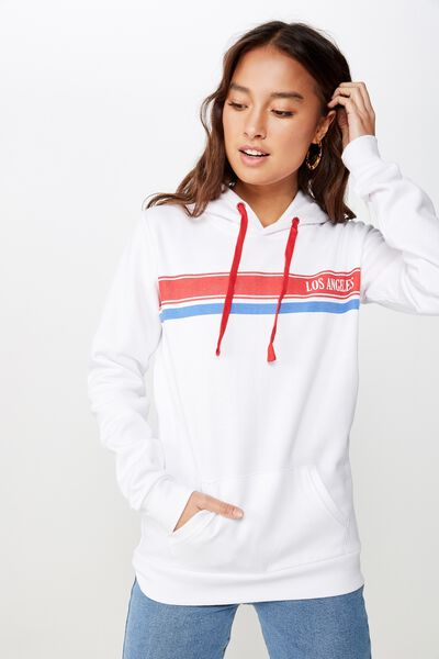 cd5f2411d0757 Delevingne Graphic Hoodie, LOS ANGELES CHEST STRIPE/WHITE
