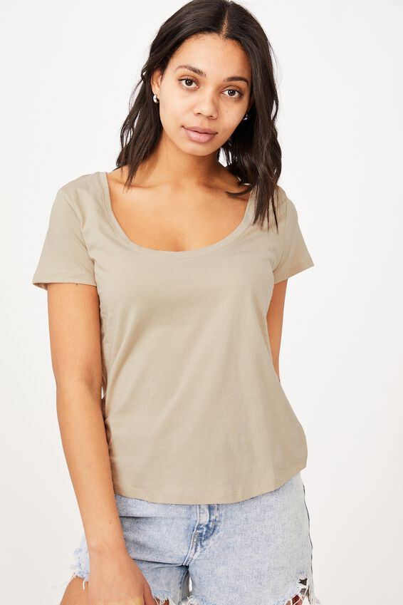 The One Scoop Tee, LATTE
