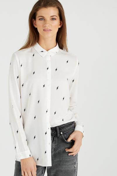 Rebecca Shirt, LIGHTNING BOLT WHITE