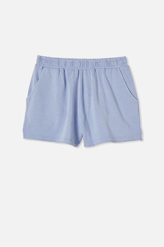 90S Sweat Short, POWDER BLUE GARMENT PIGMENT DYE