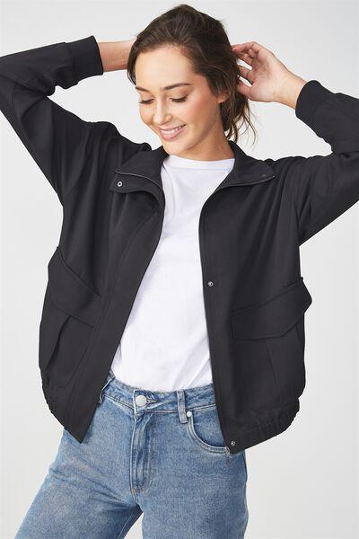 Stella Soft Military Jacket, NAVY