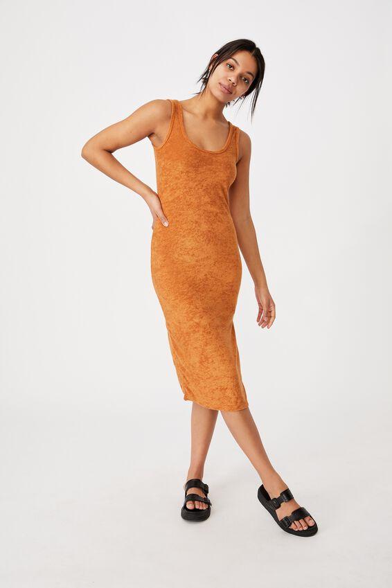 Tessa Tank Dress, GOLDEN BROWN