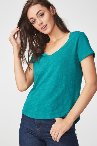 The Deep V, TEAL GREEN