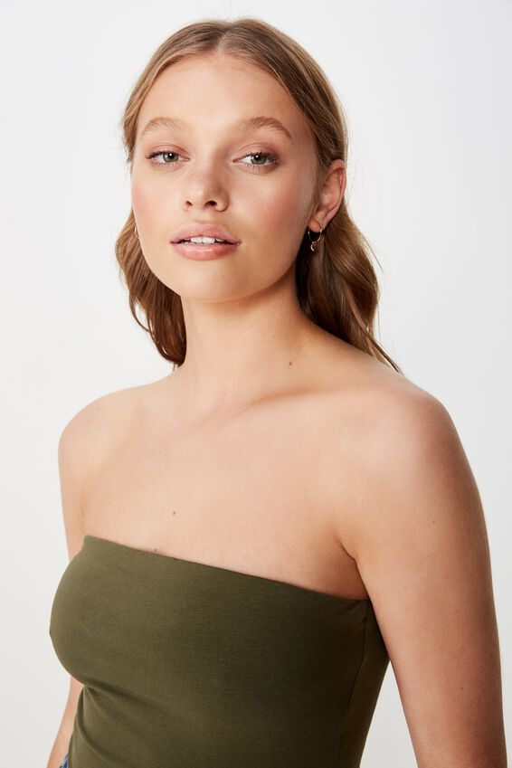 Everyday Tube Top, OLIVE NIGHT
