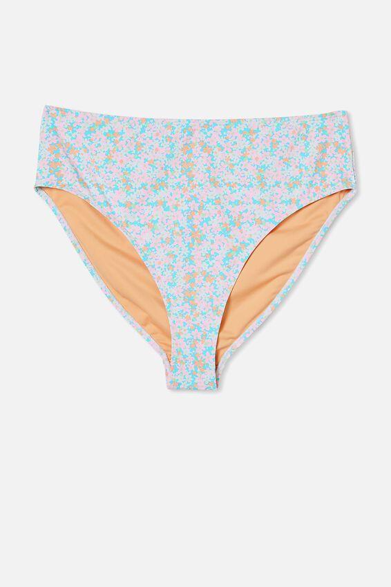 Curve High Waisted Full Bikini Bottom, MEADOW FIELDS
