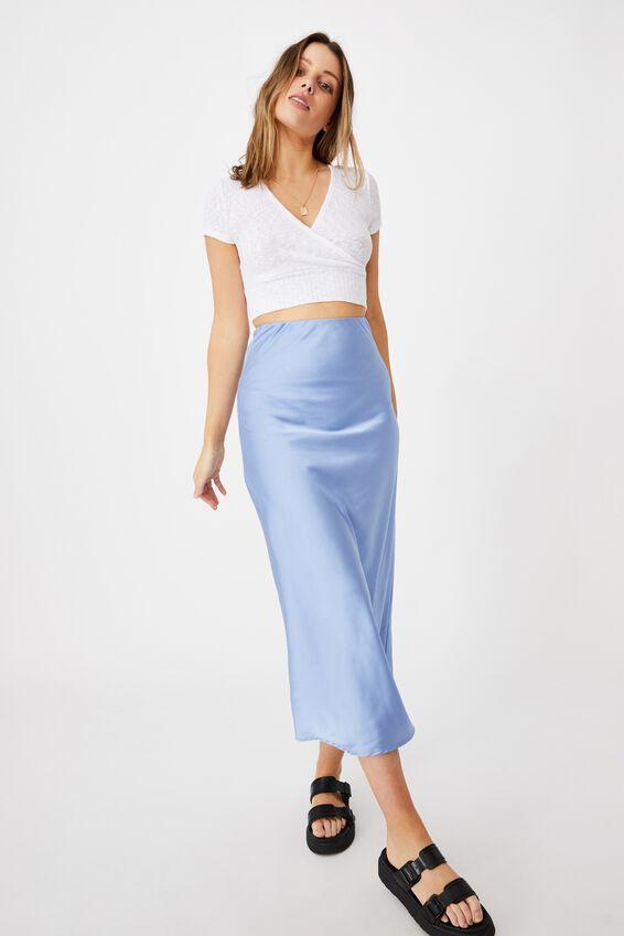All Day Slip Skirt, VINTAGE BLUE