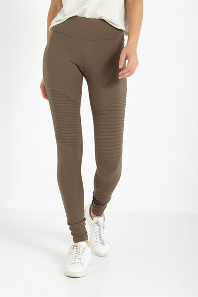 Dakota Detail Legging, NEW KHAKI BROWN
