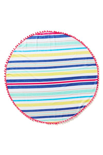 The Round Towel, BRIGHT STRIPE