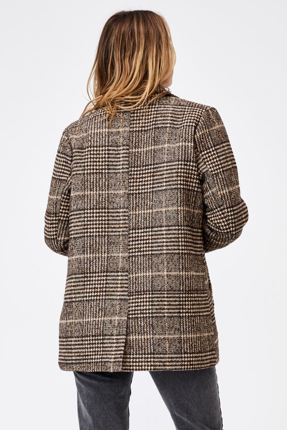 The Blazer Coat, HERITAGE BROWN CHECK