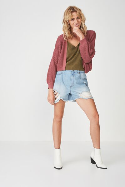 Archy Summer Cardi, KNITWEAR DECO ROSE