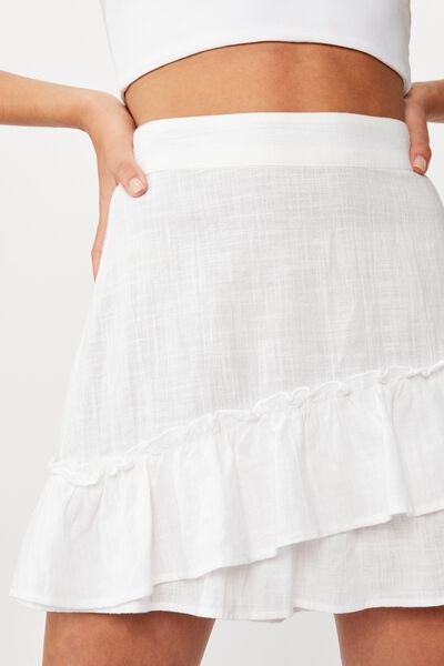 Violet Mini Skirt, WHITE