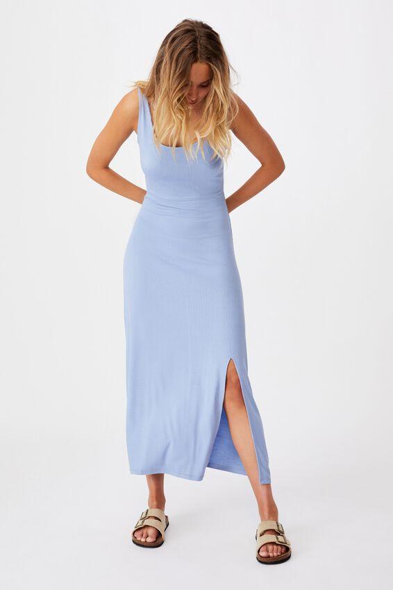 Tonia Strappy Midi Dress, VINTAGE BLUE
