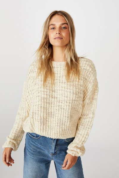 Two Toned Pullover, TURTLEDOVE/CLOUD DANCER