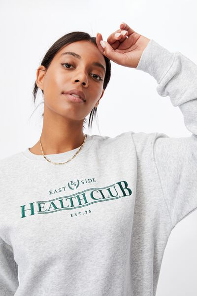Graphic Classic Crew, LIGHT GREY MARLE/ EAST SIDE HEALTH GRAPHIC GR