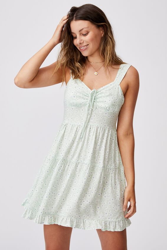 Woven Sandy Skater Dress, SOPHIE DITSY SPRING MINT
