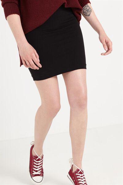Mini Tube Skirt, BLACK