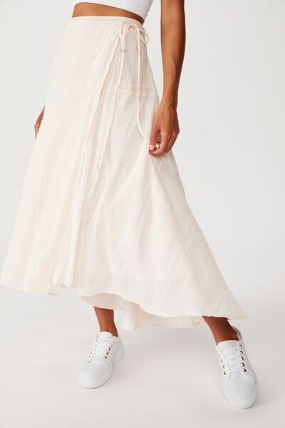 Aubrey Wrap Midi Skirt, SILVER PEONY