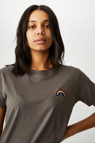 Classic Arts T Shirt, RAINBOW/SLATE GREY