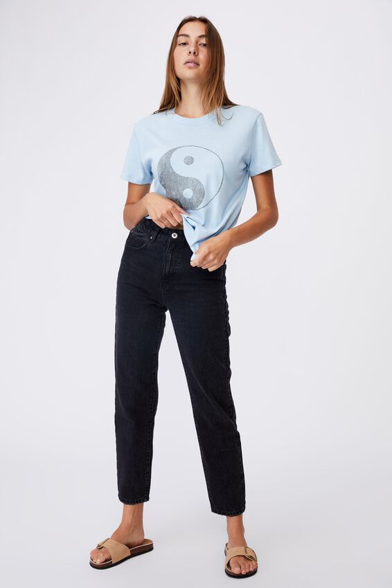 Classic Arts T Shirt, CLASSIC YIN YANG/CHAMBRAY BLUE