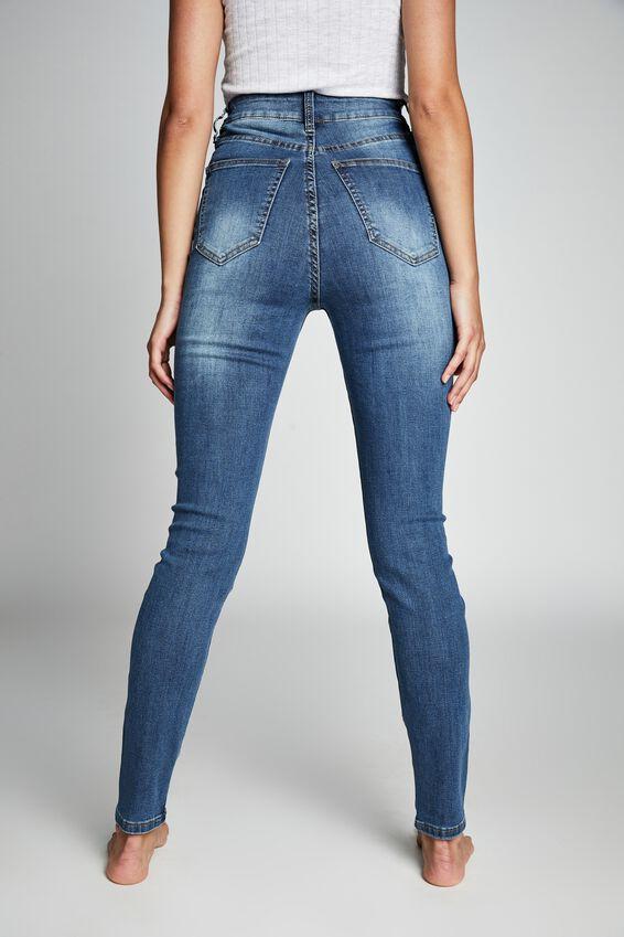 High Rise Skinny Jean, MID BLUE