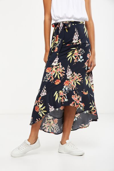 Woven Carlette Maxi Skirt, MISSY FLORAL TOTAL ECLISPE