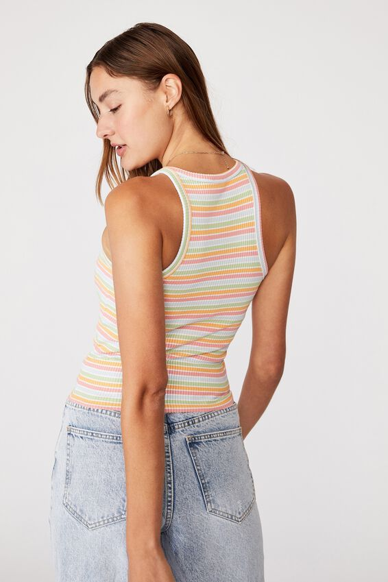 The Turn Back Tank, SUMMER MULTI STRIPE