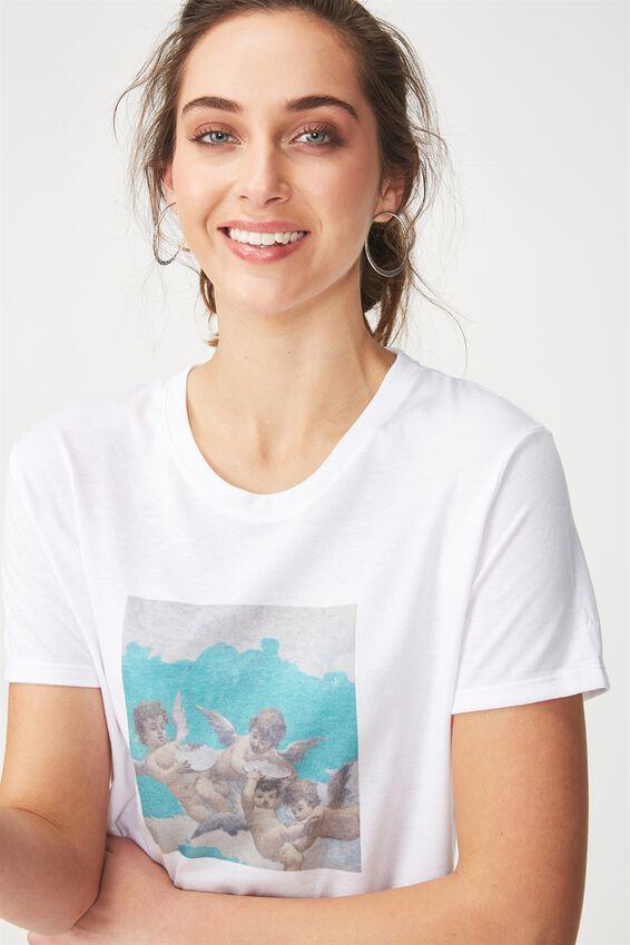 Tbar Fox Graphic T Shirt, CHERUB PAINTING/WHITE