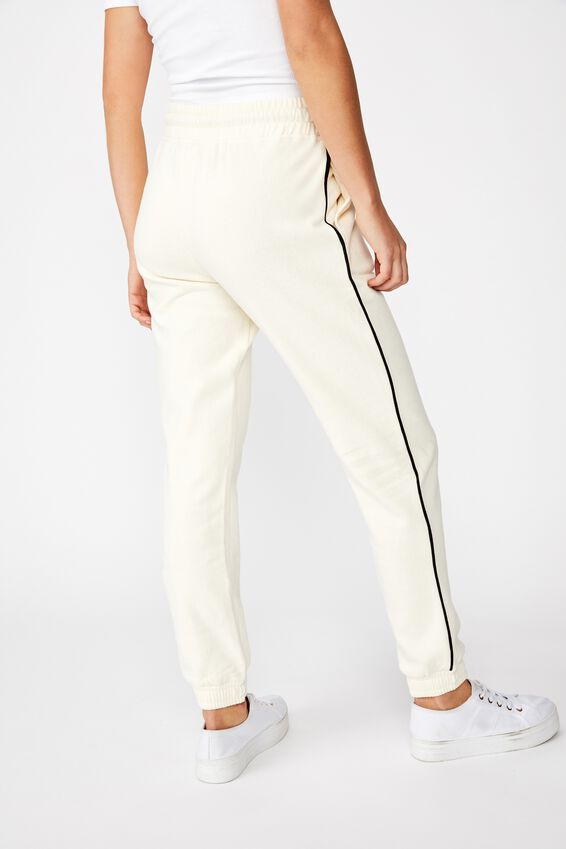 Slim Fit Trackpant, SEA SALT/BLACK PIPING