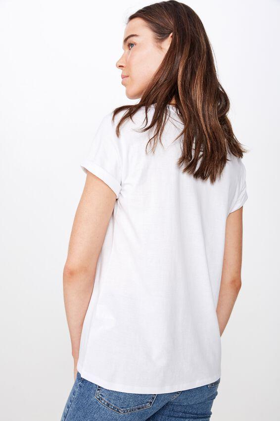 Classic Band T Shirt, LCN BR NSYNC STAR LOGO/WHITE