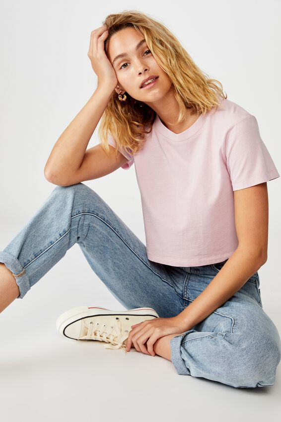 The Baby Tee, WASHED FRAGRANT LILAC