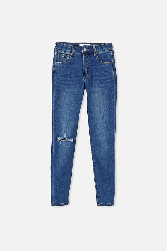 Mid Rise Cropped Skinny Jean, SURFERS BLUE RIP