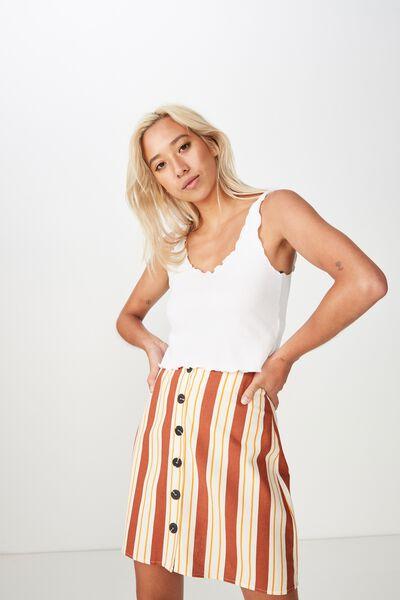 Woven Medina Mini Skirt, KELLY STRIPE ARABIAN SPICE