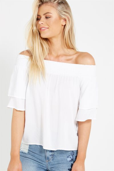 Marnie Off The Shoulder, WHITE