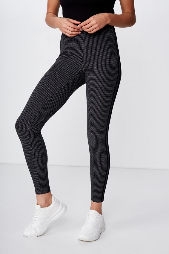 Chelsea High Waisted Legging, EMILY TONAL GINGHAM CHECK