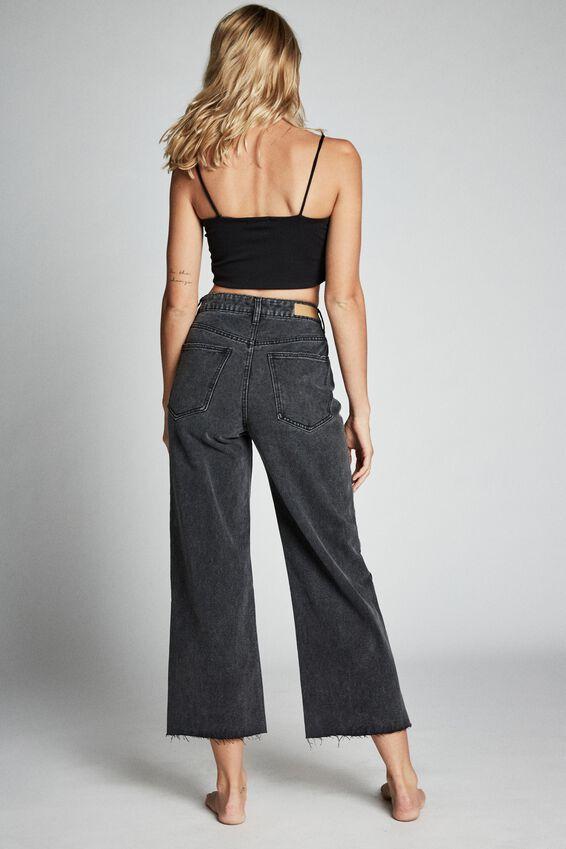 Wide Leg Jean, SUPER WASH BLACK
