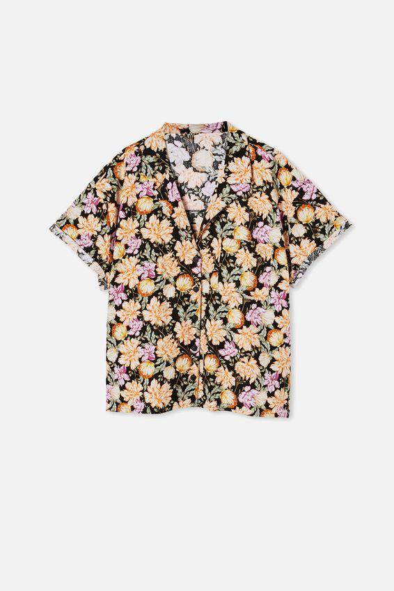 Curve Pool Side Shirt, KAIA SHELL BLACK