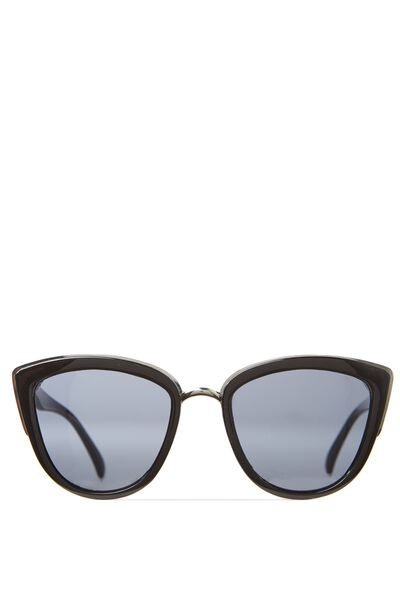 Gigi Cat Eye Sunnies, BLACK